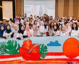 75 Pregnant Mothers Paint a 75-meter Merdeka-themed Banner | Columbia Asia Hospital Malaysia