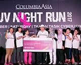 Columbia Asia lights up Cyberjaya with its UV Night Run 2017 in support of breast cancer awareness